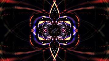 Colorful Glowing Neon Lines Speed Flow Lights Loop video