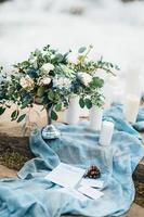 decoración de boda con elementos naturales. foto