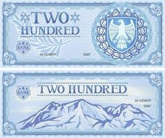 two hundred banknote vector