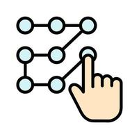 Pattern Unlock Icon vector