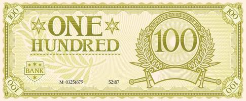 one hundred banknote vector