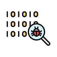 icono de virus de búsqueda vector