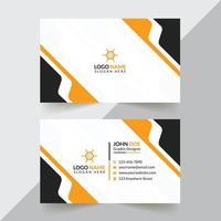 Plantillas de tarjetas de visita corporativas y creativas modernas y profesionales. vector