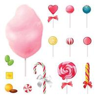Sweets Realistic Icons Set Vector Illustration