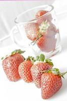 Strawberries with white background photo