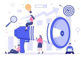 Ilustración de vector de optimización seo para motor de búsqueda, desarrollo de aplicaciones, páginas web y marcadores. página de destino o plantilla de banner