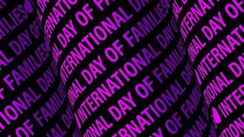 texte défilant journée internationale des familles video