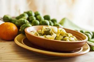 Brussels sprouts in a bowl photo