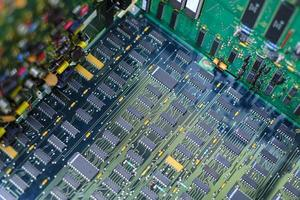 Electronic circuit board detail photo