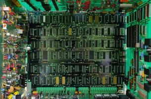 Electronic circuit board close-up photo