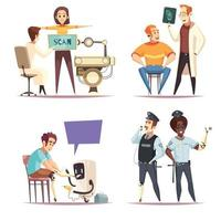 Life With Prosthesis Design Concept Vector Illustration