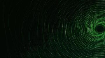 Circle Green wave technology background vector