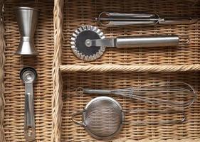 Kitchen gadgets in an organized drawer photo