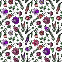 SEAMLESS FLORAL BACKGROUND WITH STYLIZED COLORS vector