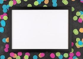 White paper with polka dot background photo