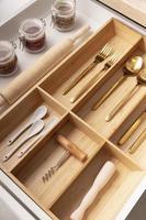 Kitchen utensils in a drawer photo