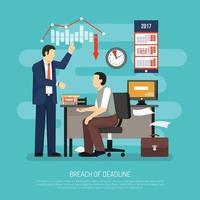 Breach Of Deadline Composition Vector Illustration
