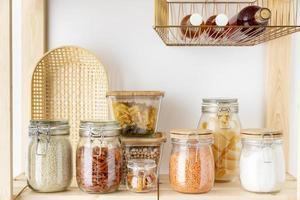recipientes de vidrio para almacenamiento de alimentos foto