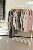 Rack of clothes photo