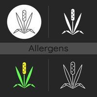 Timothy grass dark theme icon vector