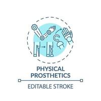 icono de concepto de prótesis física vector