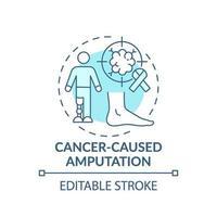 icono de concepto de amputación causada por cáncer vector