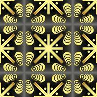 This is a vintage golden texture tile with crosses vector