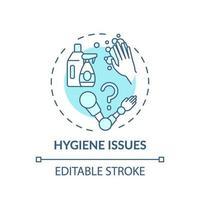 icono de concepto de problemas de higiene vector