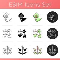 Allergy cause icons set vector