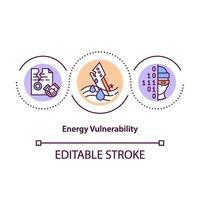 icono de concepto de vulnerabilidad energética vector