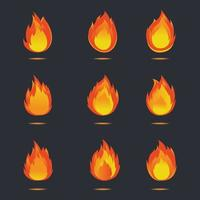 fire icon vector design