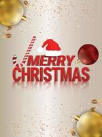 Merry christmas and happy new year celebration party flyer vector