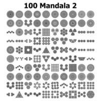 Various Pattern collections - 100. Mandala pattern set. vector