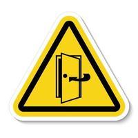 Keep Door Closed Symbol vector