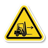 Forklift Point Right Symbol vector