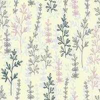 Vector floral seamless pattern and backdrop. Elegant plant background. Seamless pattern for home decor and textile.