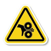 Cutting of Fingers Rotating Blades Symbol vector
