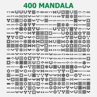 various mandala collections - 400. Ethnic Mandala ornament. Round pattern set. vector