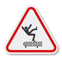 Fall Hazard From Conveyor Symbol vector