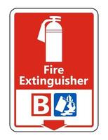 Symbol Fire Extinguisher B Sign on white background vector