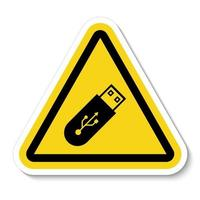 Do Not Use Flash Drive Symbol Sign vector