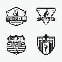plantilla de vector de diseño de logotipo de tenis