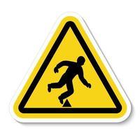 Trip Hazard Symbol vector