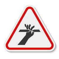 Cutting of Fingers Symbol vector