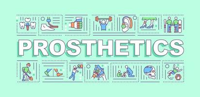 Prosthetics word concepts banner vector