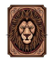 illustration of a lion with incredible detail. design for t shirt , merchandise and decoration art vector