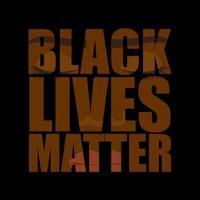 la inscripción las vidas negras importan vector