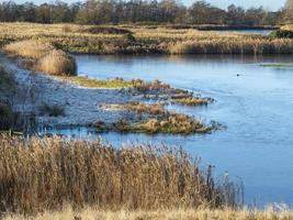 North Cave Wetlands East Yorkshire England in winter photo