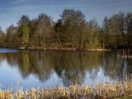 Reflections at North Cave Wetlands East Yorkshire England photo