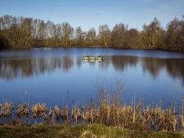 Lake at North Cave Wetlands East Yorkshire England photo